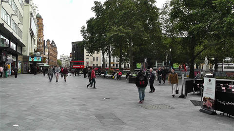 Leicester Square London 1 handheld Stock Video Footage