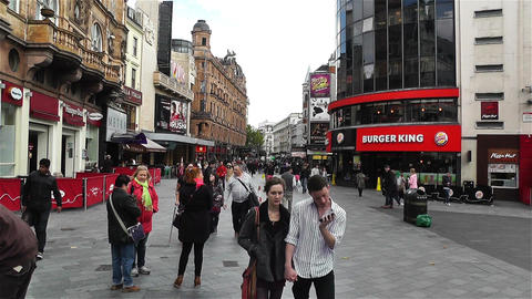 Leicester Square London 4 handheld Stock Video Footage