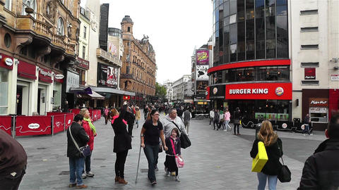 Leicester Square London 4 handheld Footage