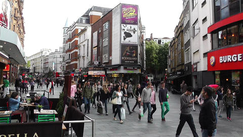 Leicester Square London 6 handheld Stock Video Footage