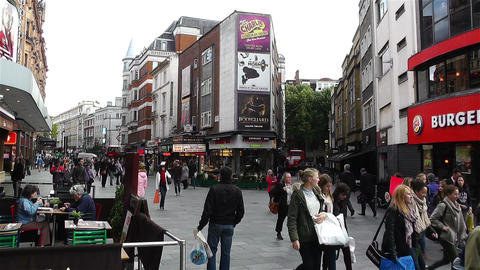 Leicester Square London 6 handheld Footage
