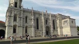 Lisbon Portugal 2 Jeronimos Monastery Stock Video Footage