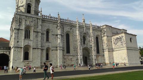 Lisbon Portugal 2 Jeronimos Monastery Footage