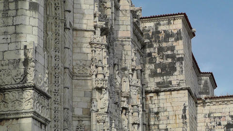 Lisbon Portugal 6 Jeronimos Monastery Stock Video Footage