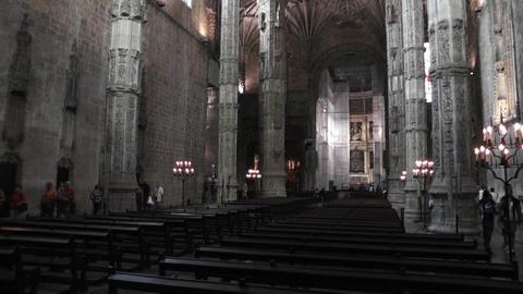Lisbon Portugal 10 Jeronimos Monastery Stock Video Footage