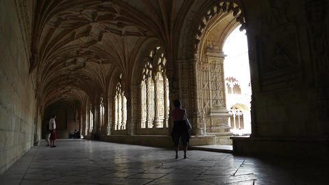 Lisbon Portugal 12 Jeronimos Monastery Stock Video Footage