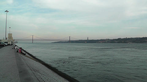 Lisbon Portugal 16 Targus River Stock Video Footage