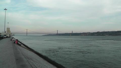 Lisbon Portugal 16 Targus River Footage