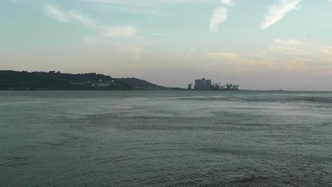 Lisbon Portugal 19 Targus River Stock Video Footage