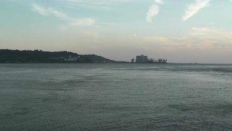 Lisbon Portugal 19 Targus River Footage