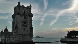 Lisbon Portugal 21 Belen Tower Stock Video Footage