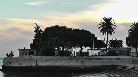 Lisbon Portugal 23 Targus River shore Stock Video Footage
