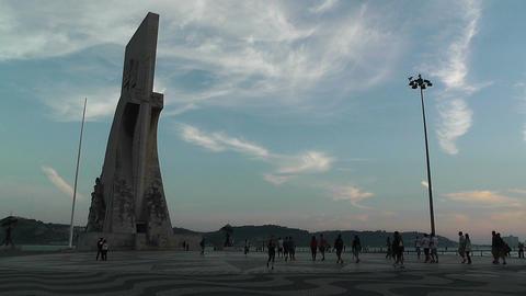 Lisbon Portugal 25 Henry Navigator Statue Stock Video Footage