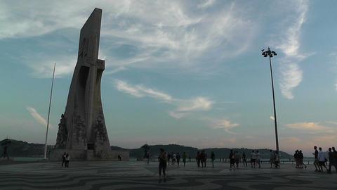Lisbon Portugal 25 Henry Navigator Statue Footage