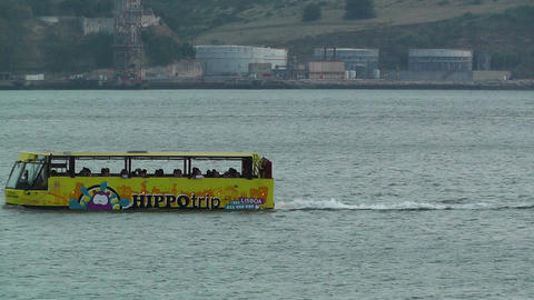 Lisbon Portugal 29 water bus Stock Video Footage