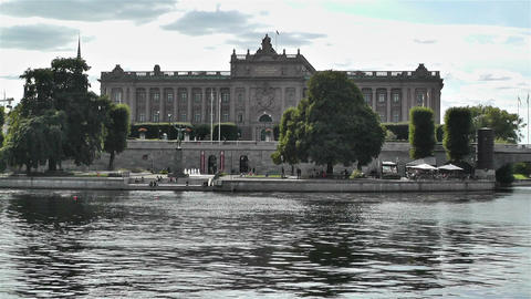 Parliament Of Sweden Stockholm 3 stock footage