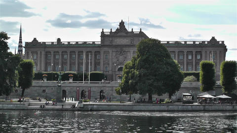 Parliament of Sweden Stockholm 5 Stock Video Footage