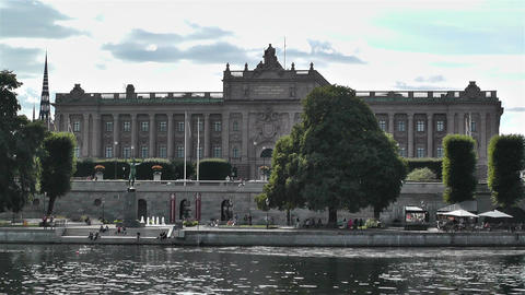 Parliament Of Sweden Stockholm 5 stock footage