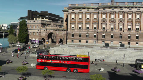 Parliament Of Sweden Stockholm 9 Pan stock footage