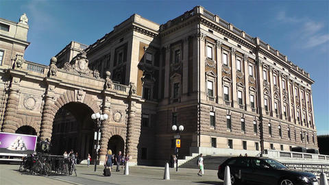 Parliament of Sweden Stockholm 11 Stock Video Footage