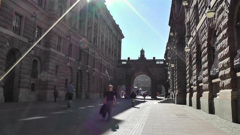 Parliament of Sweden Stockholm 16 Stock Video Footage