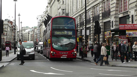 Piccadily Circus London 6 Stock Video Footage