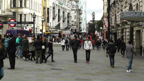 Piccadily Circus London 8 handheld Stock Video Footage