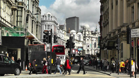 Piccadily Circus London 10 Stock Video Footage