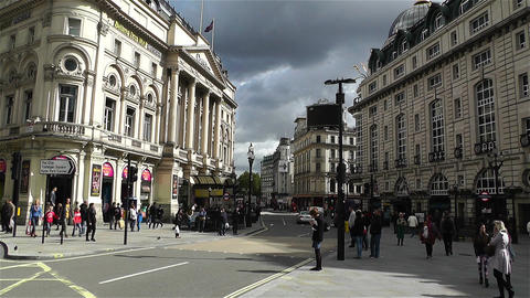 Piccadily Circus London 12 handheld Stock Video Footage