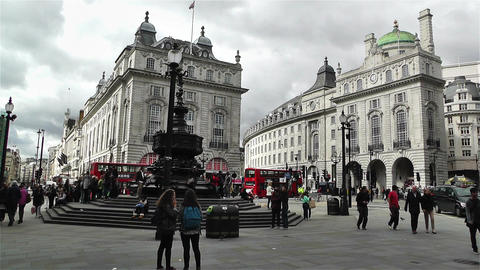 Piccadily Circus London 17 handheld Stock Video Footage