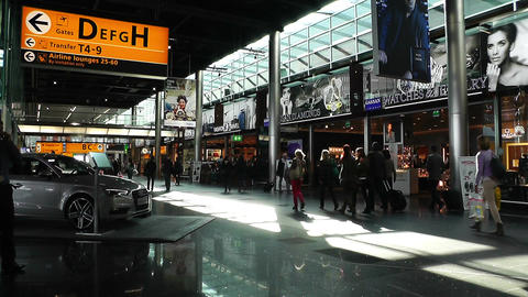 Schipol Airport Amsterdam 1 Stock Video Footage