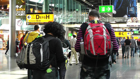 Schipol Airport Amsterdam 5 Stock Video Footage