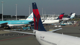 Schipol Airport Amsterdam 9 Stock Video Footage