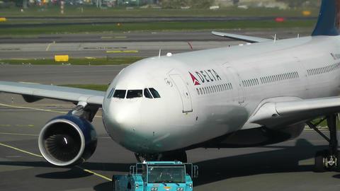 Schipol Airport Amsterdam 13 delta airlines Footage