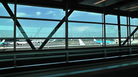 Schipol Airport Amsterdam 15 Stock Video Footage
