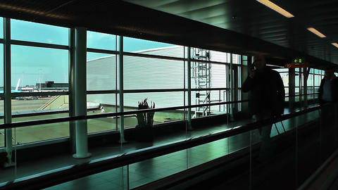 Schipol Airport Amsterdam 19 Stock Video Footage