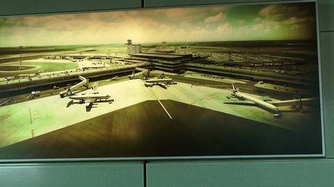 Schipol Airport Amsterdam 25 Stock Video Footage