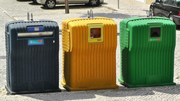 Selective Recycle Thrash Boxes 1 Stock Video Footage