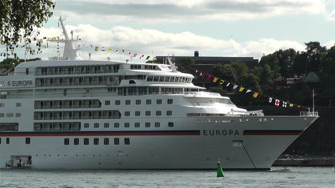 Ship Europa in Stockholm Port 1 Stock Video Footage