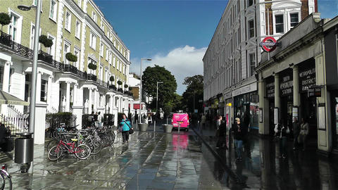 South Kensington London 1 handheld Stock Video Footage