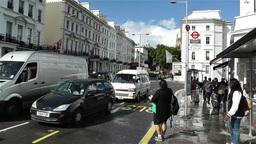 South Kensington London 3 handheld Stock Video Footage