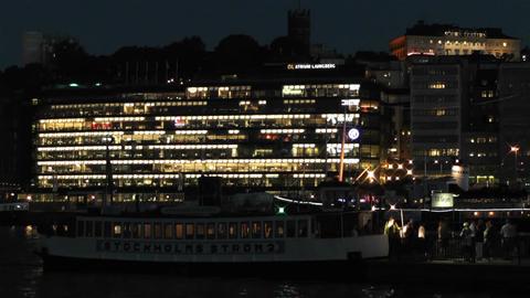 Stockholm at Night 2 Footage