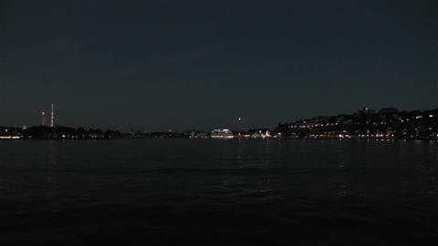 Stockholm at Night 4 Stock Video Footage