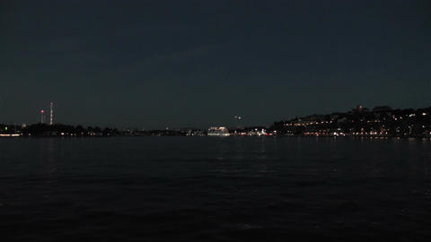 Stockholm at Night 4 Footage