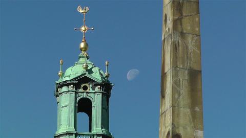 Stockholm Cathedral 3 obelisk Stock Video Footage