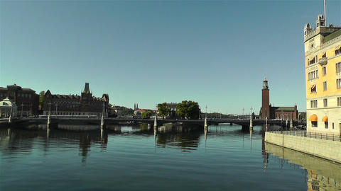 Stockholm Downtown 14 town hall Stock Video Footage