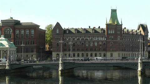 Stockholm Downtown 17 Stock Video Footage