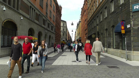 Stockholm Drottniggatan 1 Stock Video Footage