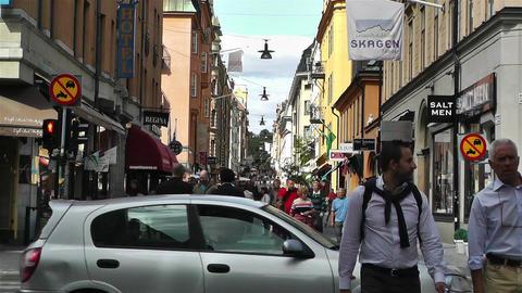 Stockholm Drottniggatan 9 Stock Video Footage