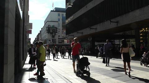 Stockholm Drottniggatan 16 Stock Video Footage
